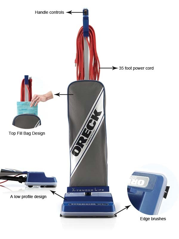 Oreck Commercial Vacuum Cleaner Features